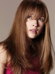 Coiffure Cheveux Long Avec Frange Femme Cheveux Longs Sur