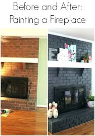 marvelous painted brick fireplace colors red