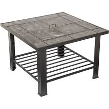 fire pit set wood burning includes screen cover and log