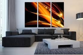 Triptych Modern Artwork Yellow Photo Canvas Modern Artwork For Living Room