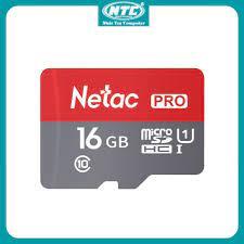 Thẻ nhớ microSDHC Netac Pro 16GB U1 2K 90MB/s - Không Box (Đỏ) - Nhất Tín  Computer - Thẻ nhớ máy ảnh Nhãn hàng NETAC
