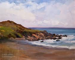 moonstone beach tide plein air cambria seascape oil painting by karen winters
