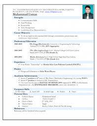 Resume Models Mechanical Engineering Freshers Sidemcicek Com