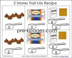 Printable Smore Trail Mix Recipe Rebus Recipe For