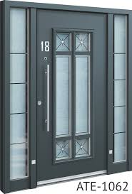 all grey bespoke aluminium front door