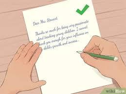 Einen Dankesbrief An Den Lehrer Schreiben Wikihow