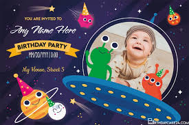 children birthday invitation cards with