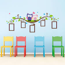 owl tree branch photo frames wall decal removable wall stickers kids room decor decals decals for bedroom walls from flylife 3 82 dhgate com