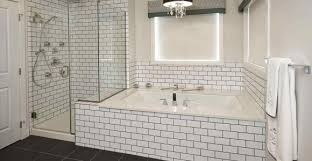 bathrooms white beveled subway tile dark grout with best of bathroom black rhahomeooo edge large and