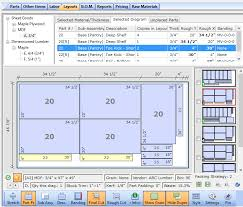 cutlist plus cutting diagram software sheet layout optimizer for free woodworking projects at Free Wood Diagrams