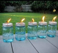 mason jar oil lamps