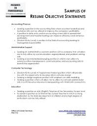 Resume Objective General Resume Objective Statements Aiditanme 86