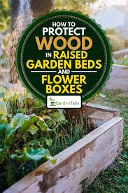 raised garden beds and flower boxes