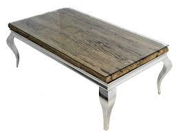 Elegantes Barock Esszimmer Set Polo Chrom Silber Holz