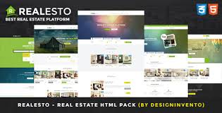 Real Estate Website Templates Beauteous Realesto Real Estate HTML Pack By Designinvento ThemeForest