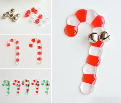 Christmas Decorations With Candy Canes Melted Bead Candy Canes Candy Cane Bead Ornaments 77