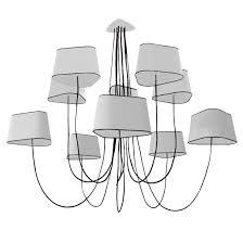 Suspension designheure moyen nuage lustre 10 lumières blanc noir Ø182cm