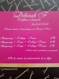 Deborah F Coiffure à Domicile Accueil Facebook