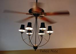 image of decorative chandelier ceiling fan with lights