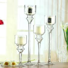 candlestick holders tall transpa glass candlestick wedding goblet candle holder 3 tall glass candle holders