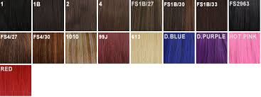 Fs4 27 Color Chart Bobbi Boss M244 Biju Wig