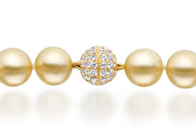 gold south sea pearl necklace with pave diamonds yellow gold sngryg0005 1