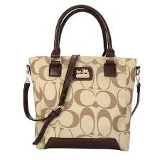 Discount Coach Legacy Tanner In Monogram Small Khaki Crossbody Bags QG6975