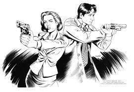 x files agent scully and agent mulder inks by lostonwallace