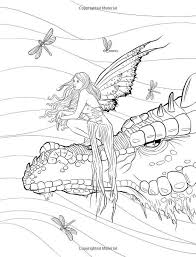 Fantasy Adult Coloring Pages Artist Selina Fenech Fantasy Myth
