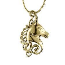 china fashion golden unicorn pendants