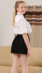 Beth Lily School Girl Striptease