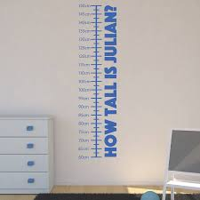 Personalised Childrens Height Chart Wall Sticker