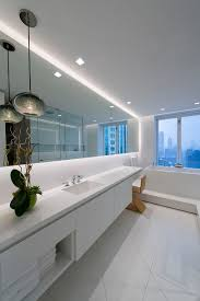 bathroom mirror lighting ideas. Place Soft Strip Along Bathroom Mirrors To Illuminate The Space And Create A Floating Effect | Personalized Lighting Idea For Bathrooms LED Mirror Ideas