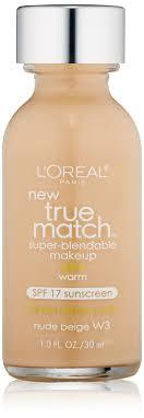 l oreal true match super blendable makeup spf 17