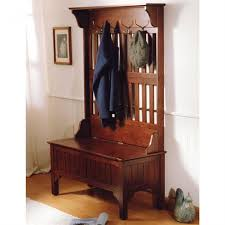 Hall Coat Rack Bench Artistic Hallway Coat Rack Bench with Storage and Antique Brass Coat 82