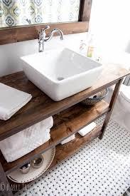 wood countertop on bathroom vanity from house of rs blog