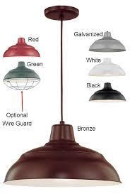 warehouse pendant light w cord 6 colors indoor outdoor 14 17 w rwhc1417 pen