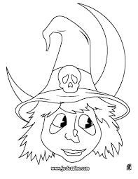 Coloriages Coloriage Dune Tete Sorciere Dhalloween Fr Halloween