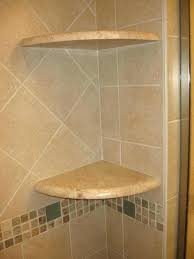marble corner shelf tile installation contractor bathroom remodel project ceramic shower image shelves ti