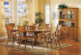 nostalgia 7 piece double trestle dining set with press back chairs