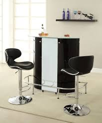 White home bar furniture Rustic Home Bar Unit Modern Style Black White And Chrome Finish Metal Curved Front Bar Unit With Tempered Frosted Glass Top Pinterest 100654 Home Bar Unit Modern Style Black White And Chrome Finish