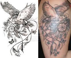 Dream Catcher With Birds Delectable Owl Bird Dreamcatcher Tattoo Design Tattooshunt