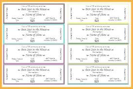 Show Ticket Template Dance Ticket Template Inspirational Free Car Wash Ticket Template