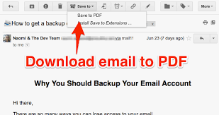 How To Save Your Email As A Pdf To Your Computer One Click