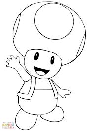 Mario Coloring Pages To Print Hk42 Mario Bros Toad Coloring Page