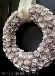 recycled book pages for paper wreath recycled book crafts paper wreaths wreath crafts
