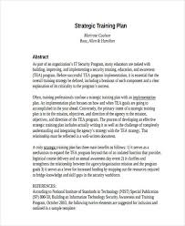 8 Training Plan Examples Samples Examples