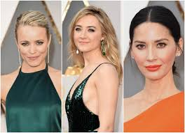 sydne style shows oscars 2016 makeup trends emerald orange rachel mcadams saoirse ronan olivia munn
