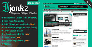 Free Download Ijonkz V2 0 Responsive Magazine News Blogger