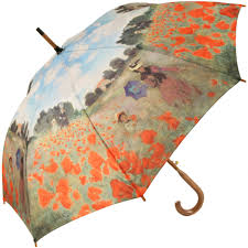 galleria art print walking length umbrella field of poppies by monet